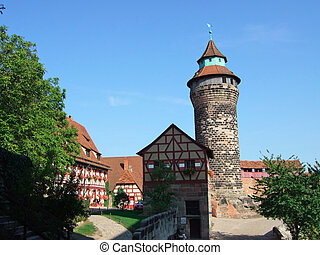 Nuremberg, Germany - Kaiserburg Castle in Nuremberg, Germany...