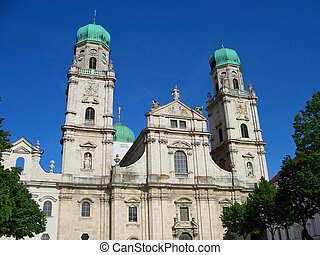 Passau, Germany - St Stephens Cathedral in Passau, Germany
