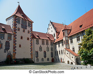 Fussen, Germany - Hohes Castle in Fussen, Germany