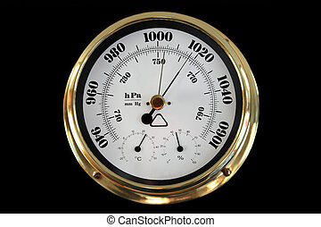 Barometer on a black background