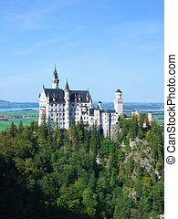 Castle Neuschwanstein near Fussen in Germany