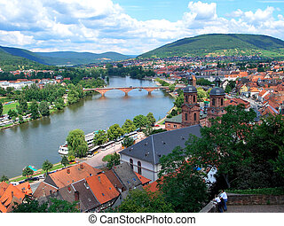 Miltenberg, Germany - Old Town and Main River in Miltenberg