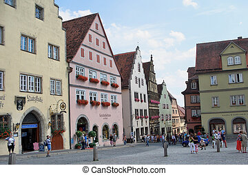 Rothenburg ob der Tauber, Germany - Marktplatz Market Square...