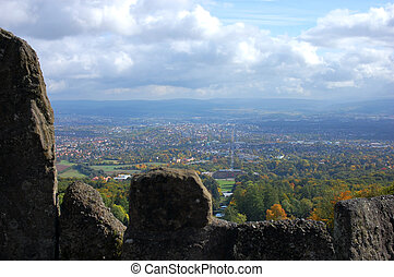 Kassel, Germany - View from the Wilhelmshoehe Park in Kassel