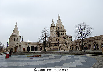 Budapest, Hungary - Fisherman's Bastion in Budapest, The...
