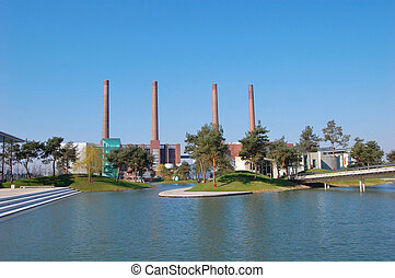 Wolfsburg, Germany - Autostadt in Wolfsburg, Germany