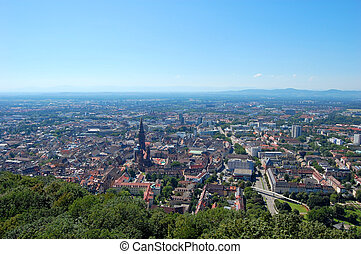 Freiburg, Germany - Old Town of Freiburg, View from the...