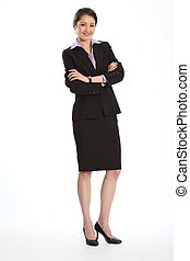 Career woman with arms folded - Full length shot of career...