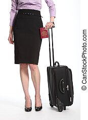 Travel for business woman - Travelling business woman with...