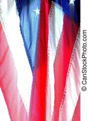patriotic colors of US flag