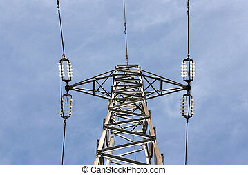 High Voltage Pole from Below