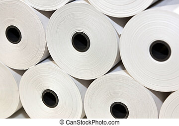 White Paper Rolls - A set of White Paper Rolls fro POS...