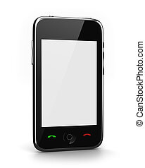 Phone with blank screen for your message