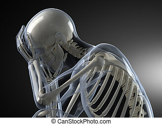 Head Pain X-ray concept