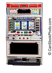 isolated slot machine on white background