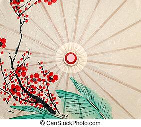 Oriental umbrella closeup