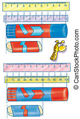 measure, ruler, glue, giraffe, math, counting, children...