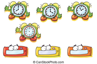 alarm clock, time, colorful, timepiece, hour, hourglass,...