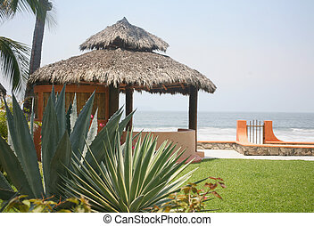 agua, playa, mexicano,  cabaña