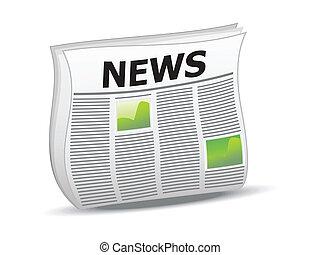 abstract shiny news icon