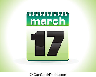 abstract st patrick calender vector illustration