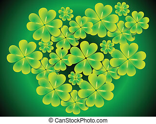 abstract st patrick clover set