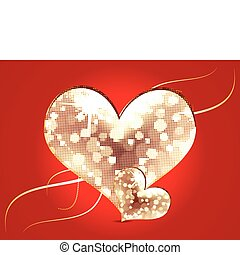 abstract moasic heart - abstract mosaic heart vector...
