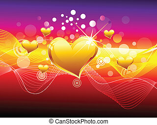 abstract colorful heart background