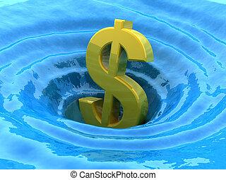 Dollar sinks