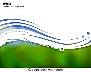 Vector landscape - Vector picture of landscape and space for...
