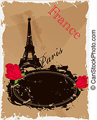 France - Vector picture with Eiffel tower