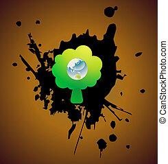 Vector environmental recycling icon grunge