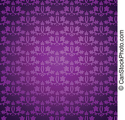 Seamless wallpaper pattern. Vector - Seamless violet...