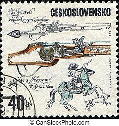 antique pistol, 1600