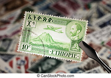 Stamp from Ethiopia - Old stamp ca 1950 from Ethiopia with...