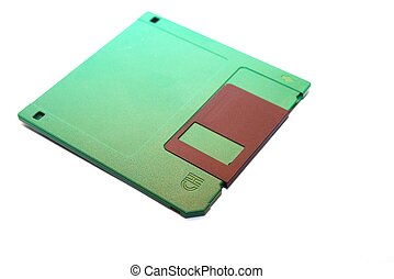 Diskette - photo of the Diskette on white background