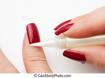 Skin around nails (cuticle) care - moisturizing skin around...
