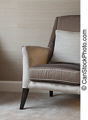 Luxury lounge chair with cushions