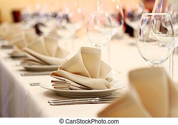 banquete, tabla, restaurante, porción