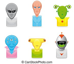 Avatar alien icons