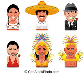 Avatar world people icons(mexican,argentinian,brazilian) -...