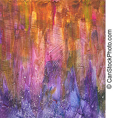 Beautiful watercolor background in soft orange, purple and pink