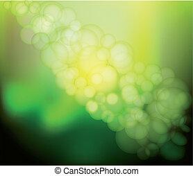 Vector Blur green Lights