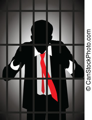 White Colar Criminal - Vector illustration of a businessman...