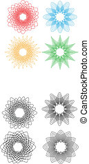 Spirals new - Set of four beautiful flower spirals different...