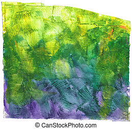 Beautiful watercolor background in soft green, yellow and purple- Great for textures and backgrounds for your projects!