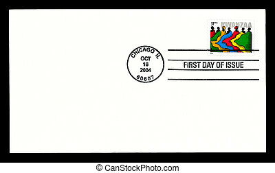 USA cover-Kwanzaa 2004 stamp - USA - CIRCA 2004- Kwanzaa...