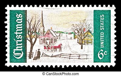 USA-U.S. 1969 Christmas stamp - USA - CIRCA 1969- U.S....
