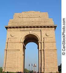 India Gate in New Delhi India, taken in 2010