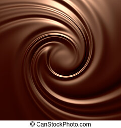 Astonishing chocolate swirl Clean, detailed render...